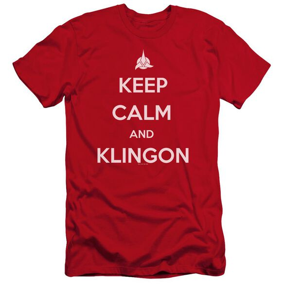 Star Trek Calm Klingon Premuim Canvas Adult Slim Fit