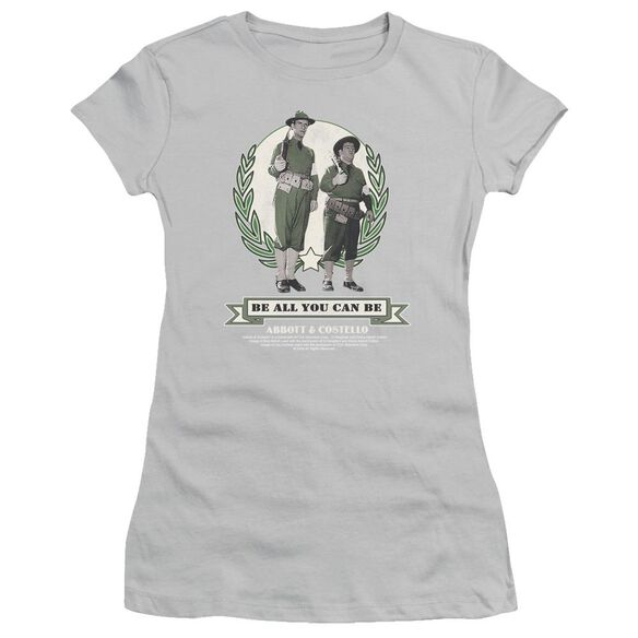 Abbott & Costello Be All You Can Be Short Sleeve Junior Sheer T-Shirt