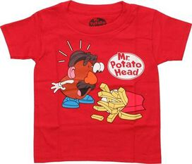 Mr Potato Head Shocked French Fries Toddler Shirt