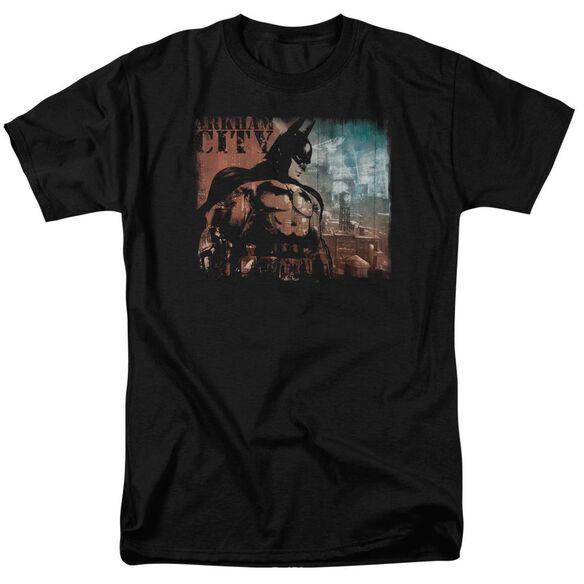 ARKHAM CITY CITY KNOCKOUT-S/S ADULT 18/1 - BLACK T-Shirt