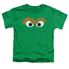 Sesame Street Oscar Face Short Sleeve Toddler Tee Kelly Green T-Shirt