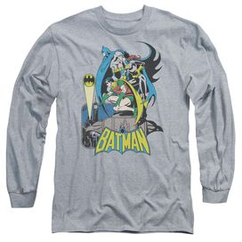 Dc Heroic Trio Long Sleeve Adult Athletic T-Shirt