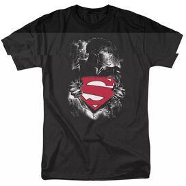 SUPERMAN DARKEST HOUR-S/S ADULT 18/1 - BLACK T-Shirt