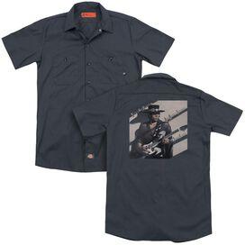 Stevie Ray Vaughan Texas Flood (Back Print) Adult Work Shirt