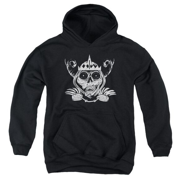Adventure Time Skull Face Youth Pull Over Hoodie