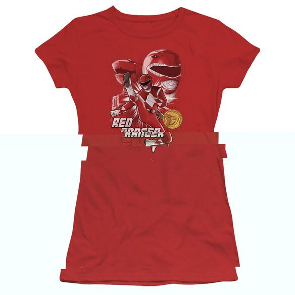 Power Rangers Ranger Short Sleeve Junior Sheer T-Shirt