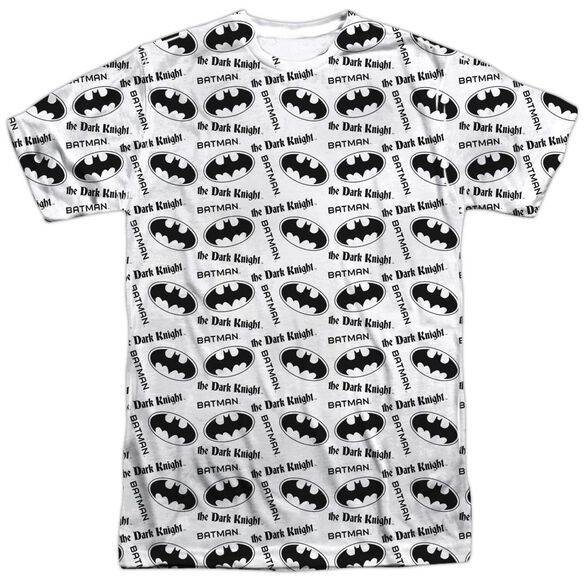 Batman Repeat Dark Knight Short Sleeve Adult 100% Poly Crew T-Shirt