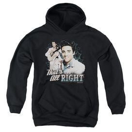 Elvis Presley Thats All Right-youth Pull-over Hoodie - Black