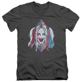 Suicide Squad Puddin Portrait Short Sleeve Adult V Neck T-Shirt