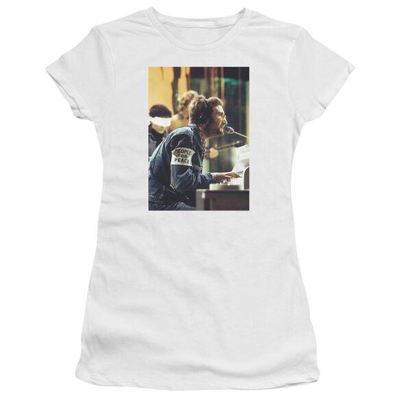 John Lennon Peace Short Sleeve Junior Sheer T-Shirt