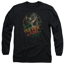 JURASSIC PARK CLEVER GIRL - L/S ADULT 18/1 - BLACK T-Shirt