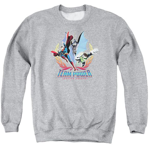 Jla Team Power Adult Crewneck Sweatshirt Athletic