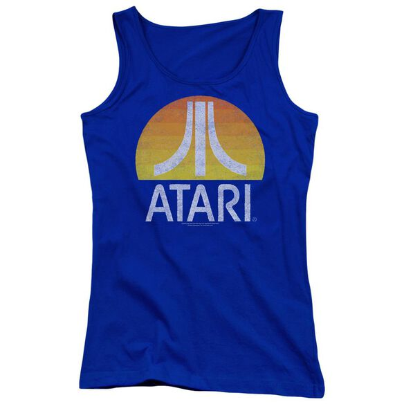 Atari Sunrise Eroded Juniors Tank Top Royal