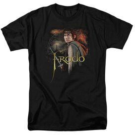 Lor Frodo Short Sleeve Adult Black T-Shirt