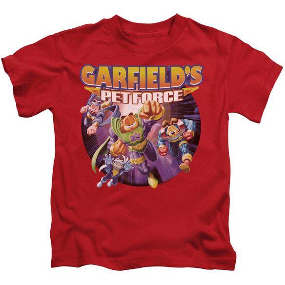 Garfield Pet Force Four Short Sleeve Juvenile Red T-Shirt