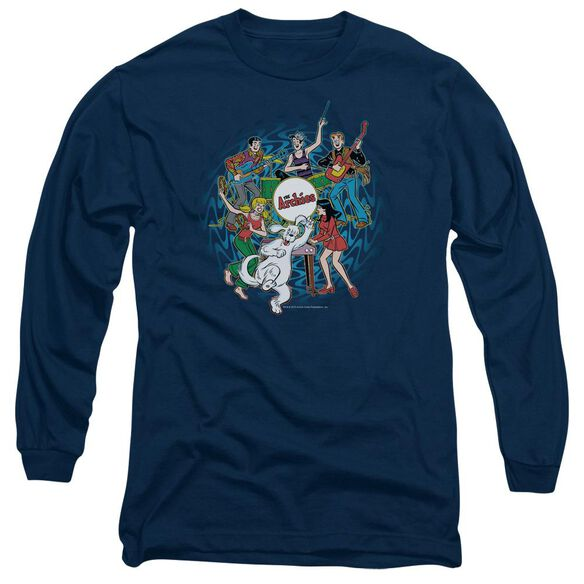 Archie Comics Psychadelic Archies Long Sleeve Adult T-Shirt