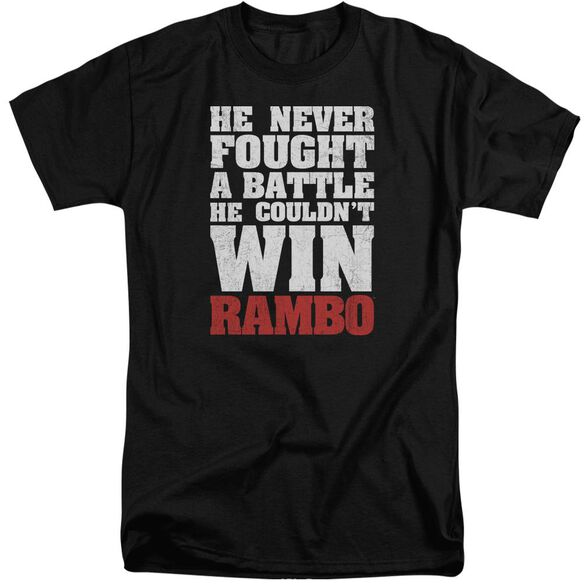Rambo:First Blood He Never Short Sleeve Adult Tall T-Shirt