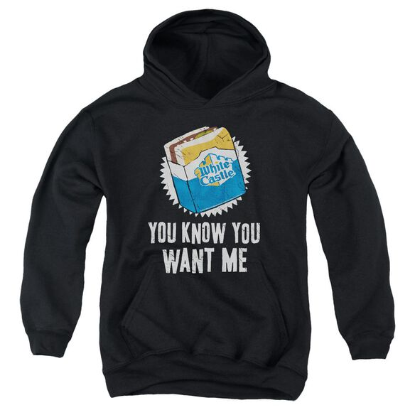 White Castle Want Me Youth Pull Over Hoodie