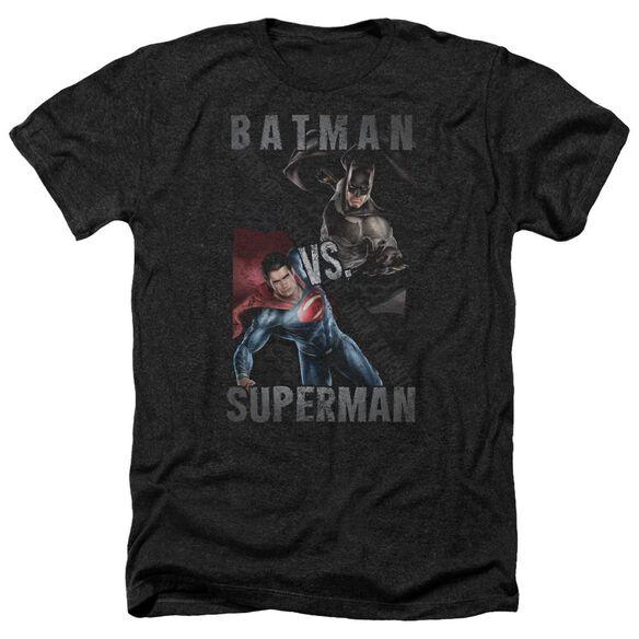 Batman Vs Superman Hero Split Adult Heather