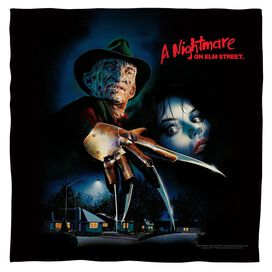 Nightmare On Elm Street Freddy Poster Bandana White
