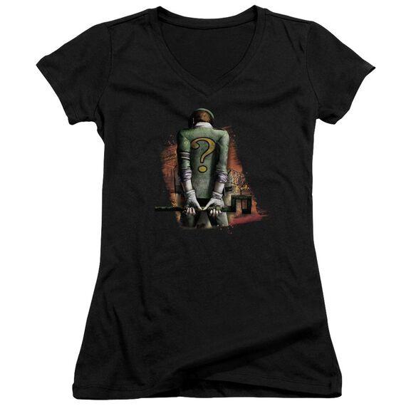 Arkham City Riddler Convicted Junior V Neck T-Shirt