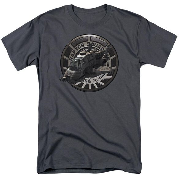 Bsg Raptor Squadron Short Sleeve Adult Charcoal T-Shirt