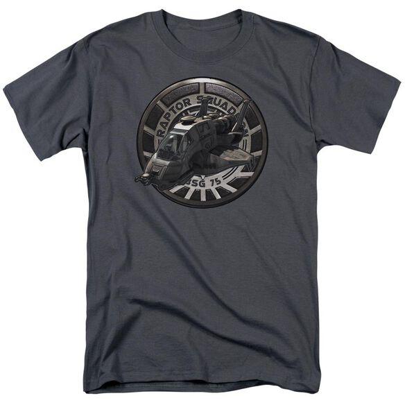 Bsg Raptor Squadron Short Sleeve Adult Charcoal T-Shirt