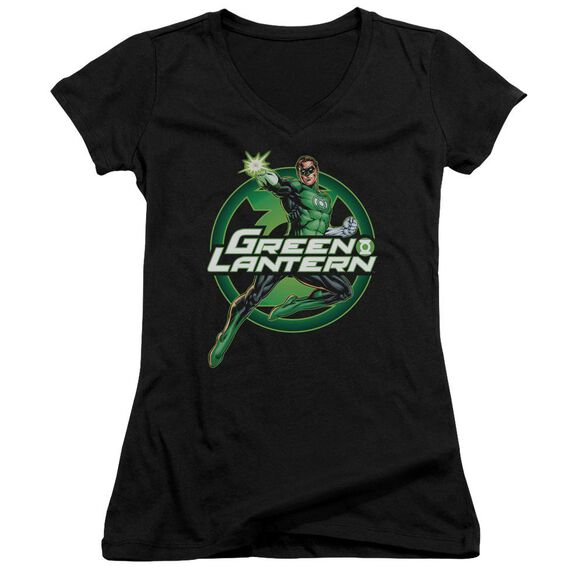 Jla Lantern Glow Junior V Neck T-Shirt