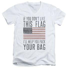 Pack Your Bag Short Sleeve Adult V Neck T-Shirt