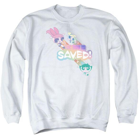 Powerpuff Girls The Day Is Saved Adult Crewneck Sweatshirt