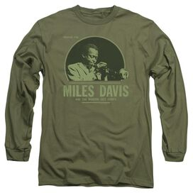 Miles Davis The Miles Long Sleeve Adult Military T-Shirt