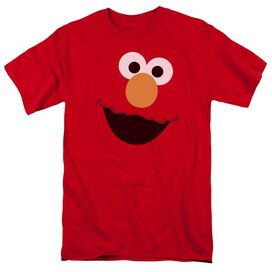 Sesame Street Elmo Face Short Sleeve Adult T-Shirt