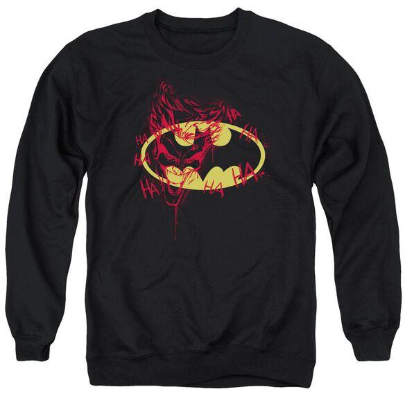 Batman Joker Graffiti Adult Crewneck Sweatshirt