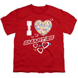 SMARTIES I HEART SMARTIES - S/S YOUTH 18/1 - RED T-Shirt