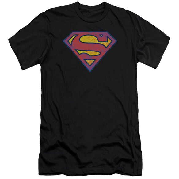 Superman Neon Distress Logo Premuim Canvas Adult Slim Fit