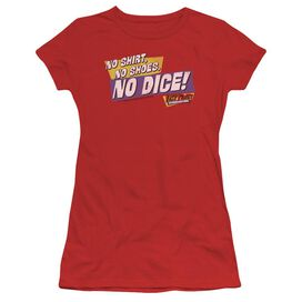 FAST TIMES RIDGEMONT HIGH NO DICE - S/S JUNIOR SHEER - RED T-Shirt