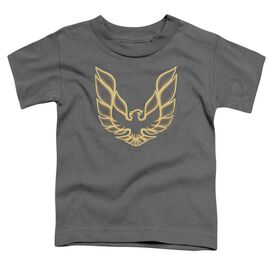 Pontiac Iconic Firebird Short Sleeve Toddler Tee Charcoal T-Shirt