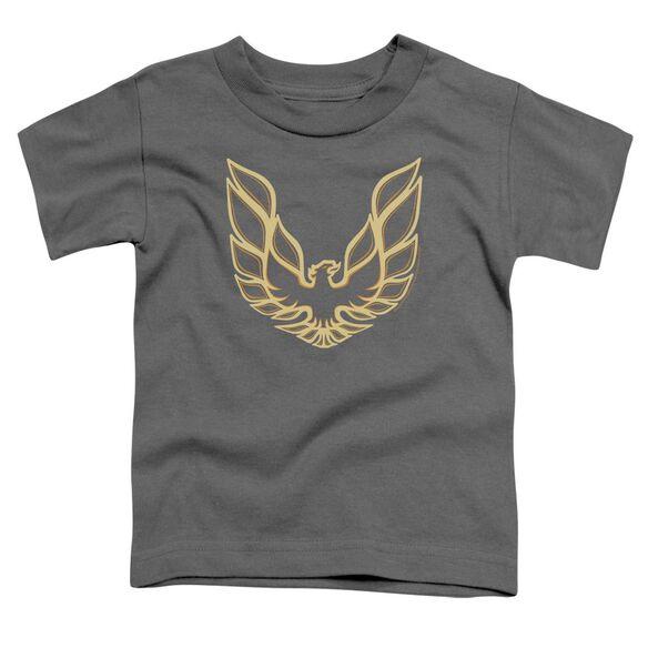 Pontiac Iconic Firebird Short Sleeve Toddler Tee Charcoal T-Shirt
