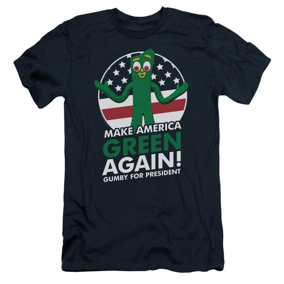 Gumby For President Short Sleeve Adult T-Shirt