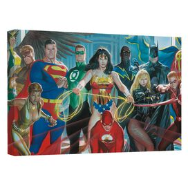 Jla Painted Justice United Quickpro Artwrap Back Board