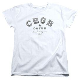 Cbgb Club Logo Short Sleeve Womens Tee T-Shirt