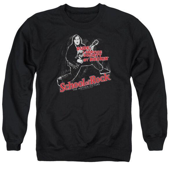 School Of Rock Rockin Adult Crewneck Sweatshirt