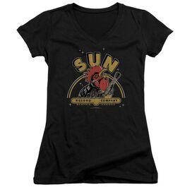Sun Rocking Rooster Junior V Neck T-Shirt