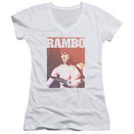 Rambo Iii Creep Junior V Neck T-Shirt