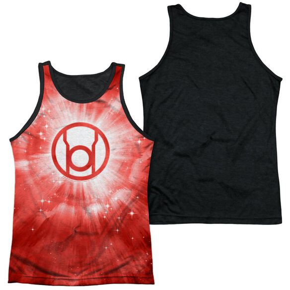 Green Lantern Red Energy Adult Poly Tank Top Black Back