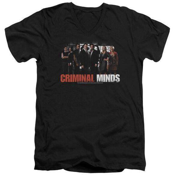 Criminal Minds The Brain Trust Short Sleeve Adult V Neck T-Shirt