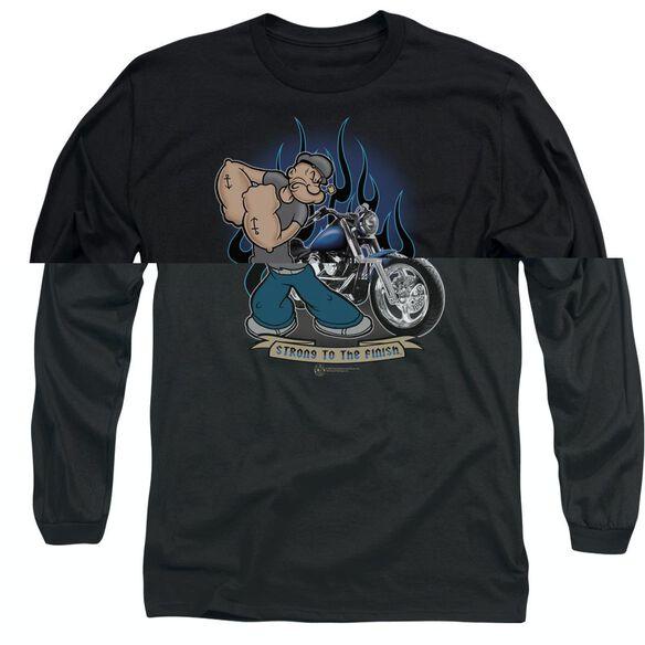 POPEYE BIKER POPEYE - L/S ADULT 18/1 - BLACK T-Shirt