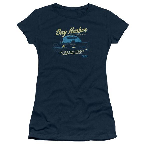 DEXTER MOONLIGHT FISHING - S/S JUNIOR SHEER - NAVY T-Shirt