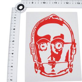 Star Wars C-3PO Head Red Decal