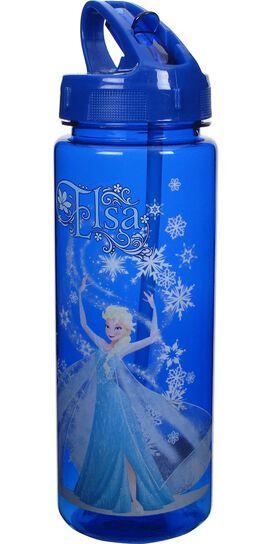 Frozen Elsa Blue Water Bottle